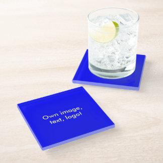 ガラスコースターの単ロイヤルブルー ガラスコースター