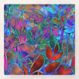 ガラスコースターの花柄の抽象芸術のステンドグラス ガラスコースター