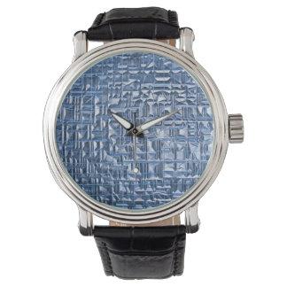 ガラスタイルの腕時計 腕時計