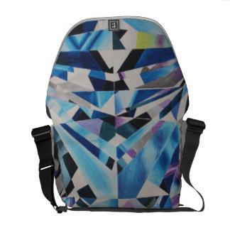 ガラスダイヤモンドの中型のメッセンジャーバッグの外プリント メッセンジャーバッグ