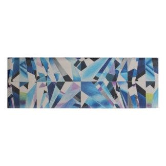 ガラスダイヤモンドの小さい長方形の名札 名札