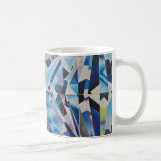 ガラスダイヤモンドの白11のozのクラシックのマグ コーヒーマグカップ