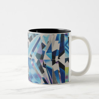 ガラスダイヤモンドの黒11のozのツートーンマグ ツートーンマグカップ