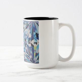 ガラスダイヤモンドの黒15のozのツートーンマグ ツートーンマグカップ