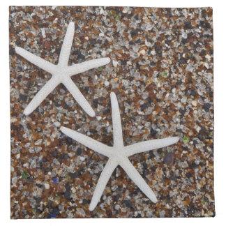 ガラスビーチのヒトデの骨組 ナプキンクロス
