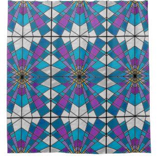 ガラス光線の青および紫色を汚して下さい シャワーカーテン