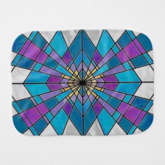 ガラス光線の青および紫色を汚して下さい バープクロス