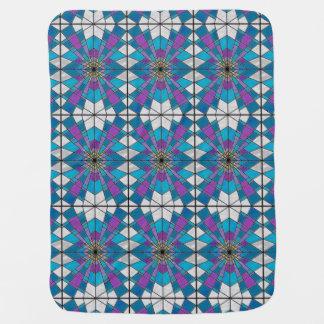 ガラス光線の青および紫色を汚して下さい ベビー用毛布