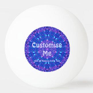 ガラス効果のモザイク紫色か青 卓球ボール