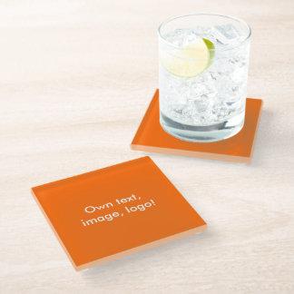 ガラス単コースターのオレンジ ガラスコースター