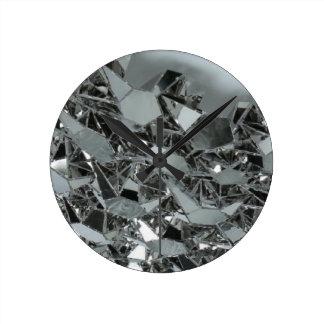 ガラス壊された部分 ラウンド壁時計