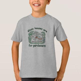 ガラス家は庭師のためです Tシャツ