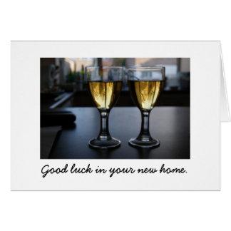 ガラス家:  あなたの新しい家の幸運 グリーティングカード