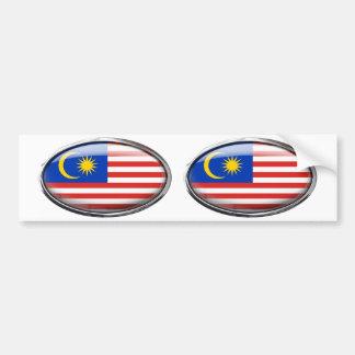 ガラス楕円形のマレーシアの旗 バンパーステッカー