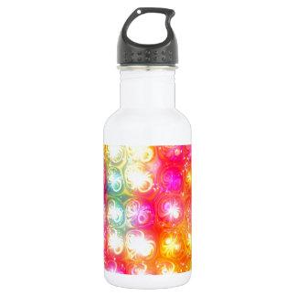 ガラス状の虹の輝きの渦巻のデザイン ウォーターボトル