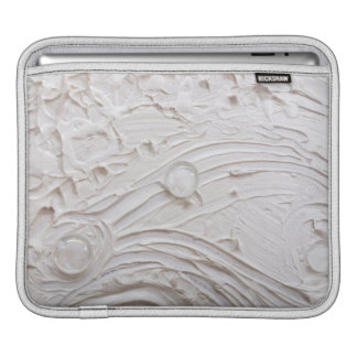 ガラス玉によって絵を描く無題の白の抽象芸術 iPadスリーブ