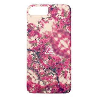 ガラス矢の開花の電話箱 iPhone 8 PLUS/7 PLUSケース