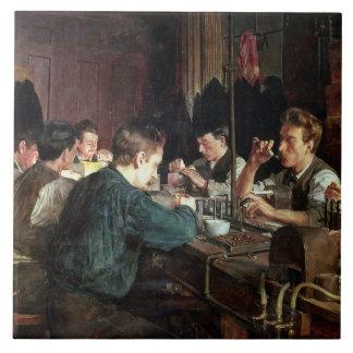 ガラス職人1883年(キャンバスの油) タイル