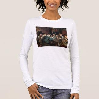 ガラス職人1883年(キャンバスの油) 長袖Tシャツ