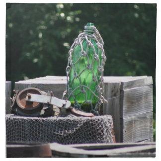 ガラス魚釣りは木箱場面で浮かびます ナプキンクロス
