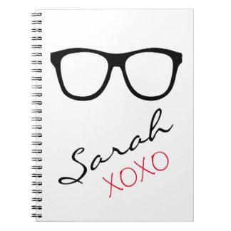 ガラスXOXOの一流のノートジャーナル ノートブック