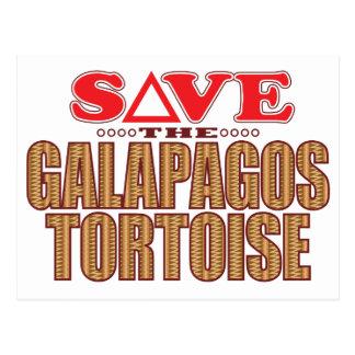 ガラパゴスのカメの保存 ポストカード