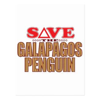 ガラパゴスのペンギンの保存 ポストカード