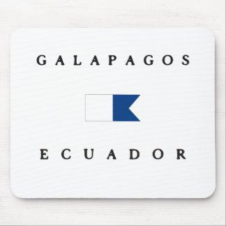 ガラパゴスエクアドルのアルファ飛び込みの旗 マウスパッド