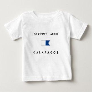 ガラパゴスダーウィンのアーチのアルファ飛び込みの旗 ベビーTシャツ