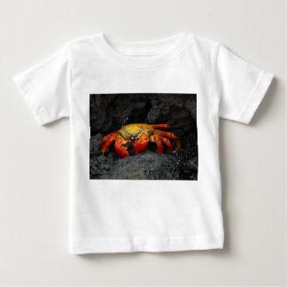 ガラパゴス諸島からのカニGrapsus Grapsus ベビーTシャツ