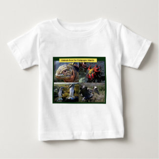 ガラパゴス諸島からの動物 ベビーTシャツ