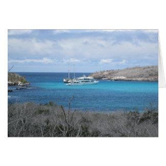 ガラパゴス諸島のビーチの郵便はがき カード