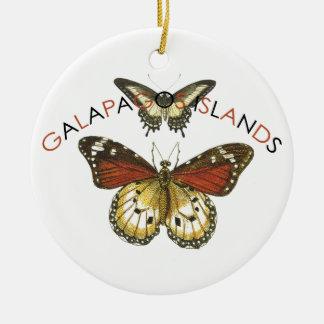 ガラパゴス諸島の蝶 セラミックオーナメント