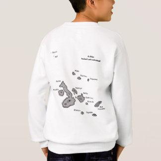 ガラパゴス諸島地図および空港コード スウェットシャツ