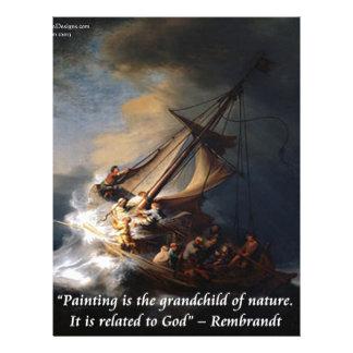 ガリラヤ及び自然の引用文のレンブラントの海 レターヘッド