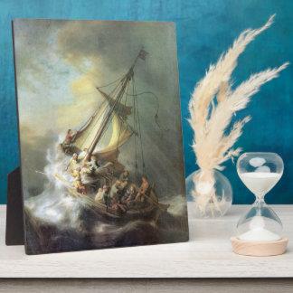 ガリラヤ-レンブラントの海の嵐のキリスト フォトプラーク