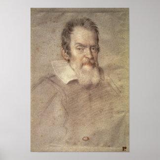 ガリレオ・ガリレイの天文学者のポートレート ポスター