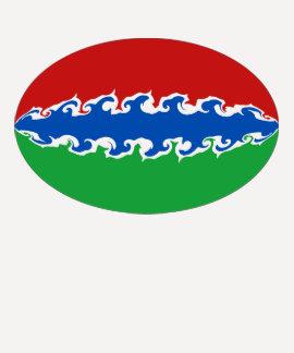 ガンビアのすごい旗のTシャツ Tシャツ