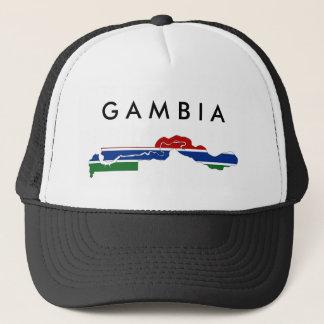 ガンビアの国旗の地図の形のシルエット キャップ