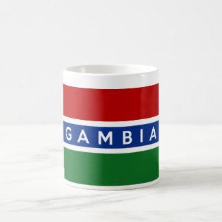 ガンビアの国旗の記号の名前の文字 コーヒーマグカップ