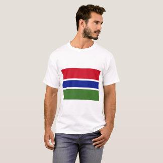 ガンビアの国民の世界の旗 Tシャツ
