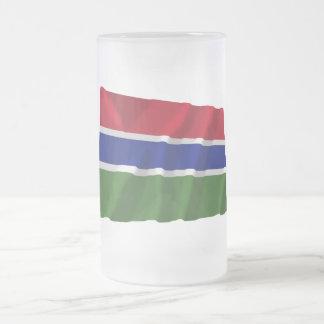 ガンビアの振る旗 フロストグラスビールジョッキ