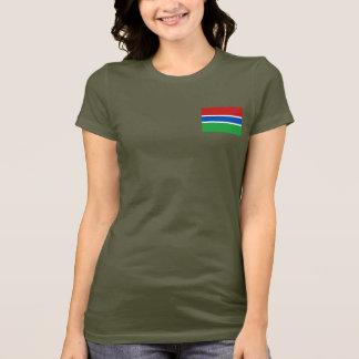 ガンビアの旗および地図dkのTシャツ Tシャツ