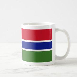 ガンビアの旗のコーヒー・マグ コーヒーマグカップ