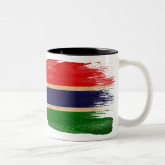 ガンビアの旗のマグ ツートーンマグカップ
