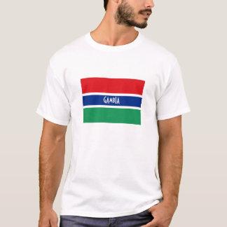 ガンビアの旗の記念品のTシャツ Tシャツ