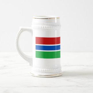 ガンビアの旗の~の地図のマグ ビールジョッキ