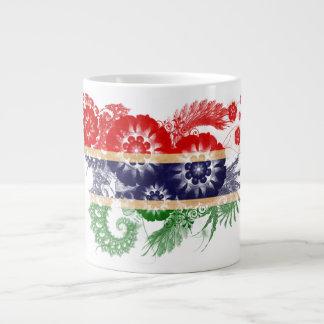 ガンビアの旗 ジャンボコーヒーマグカップ