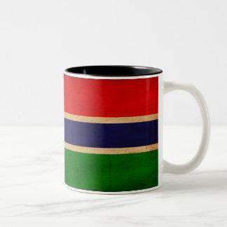 ガンビアの旗 ツートーンマグカップ