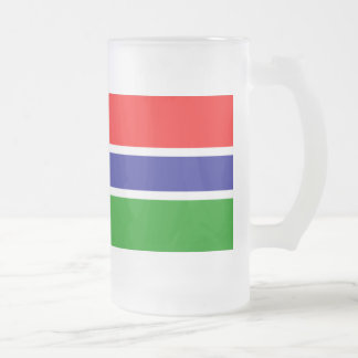 ガンビアの旗 フロストグラスビールジョッキ